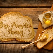 Bee America Honey on Bread